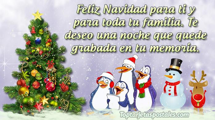 Felicitaciones de navidad para la familia