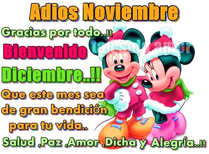 Adiós Noviembre Bienvenido Diciembre
