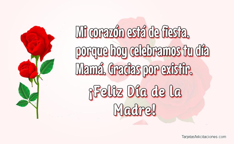Feliz Día de la Madre Frases bonitas para Felicitar
