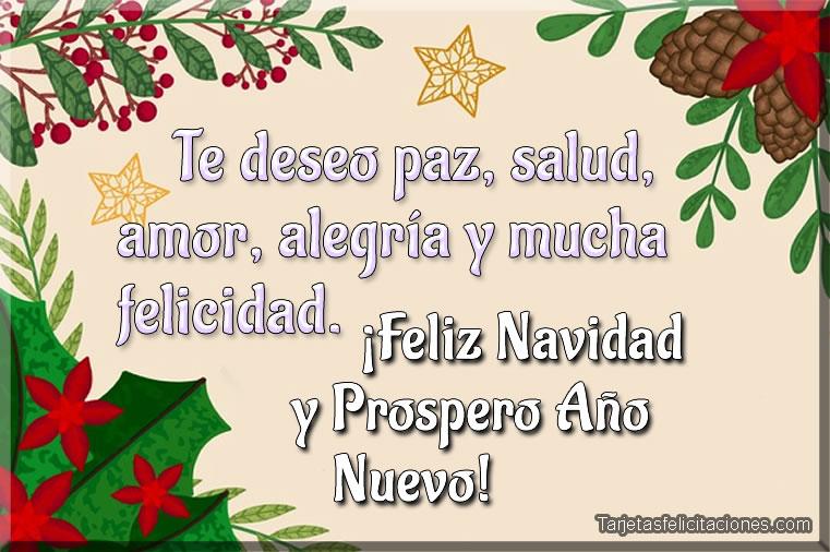 Imágenes bonitas de Feliz Navidad y Prospero Año Nuevo