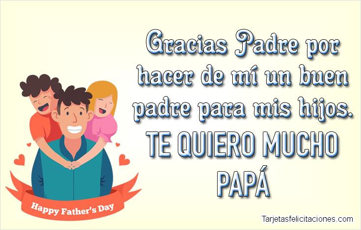 Mensajes bonitas para felicitar a papá