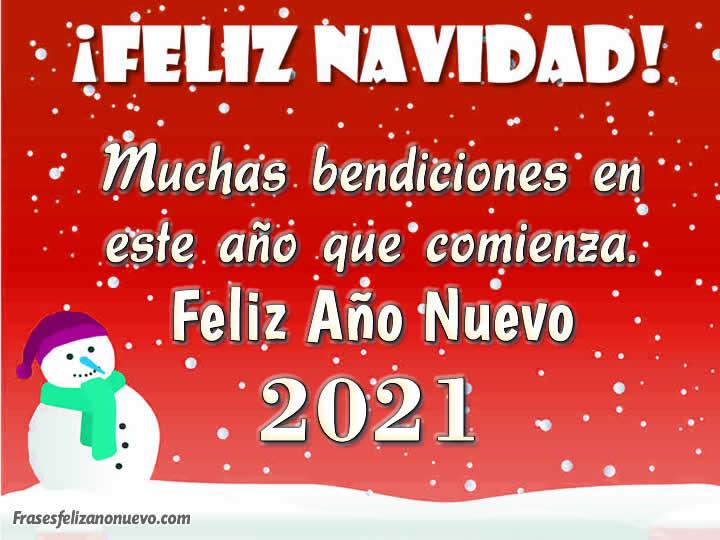 Tarjetas para Felicitar Año Nuevo 2021 Gratis